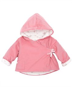 Baby Pink Crossover Hooded Jacket, Petit Bateau.