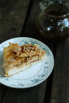 leaves and flours vegan Baklava Cheesecake