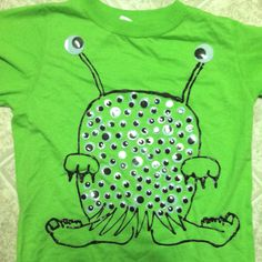 Shirt for son's 100th day of school. - We have different feet but still just as cute!  Easy