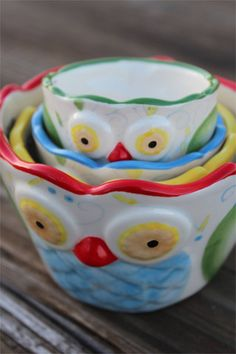 bomisch — Unique Owl Kitchen Measuring Cups
