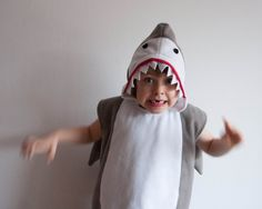 Hai-Kostüm 5-6 Jahre, Faschingskostüm