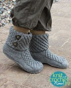 Free Walk of Fame Slippers pattern featured in Season 7 of Knit and Crochet Now! TV.
