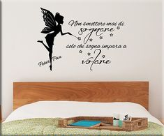 adesivi murali frase peter pan Pinterest Blog, Wall Stickers, Shabby Chic, Tumblr, Stencils, Clip Art, Drawings, Instagram Posts, Gifts