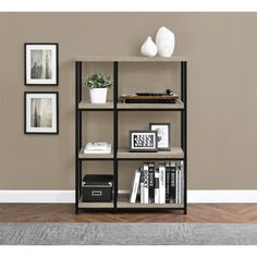 Organize your living room, bedroom, office or any area that could use a little more space with the Altra Elmwood Bookcase. The spacious shelves are perfect for organizing books or for displaying decor.