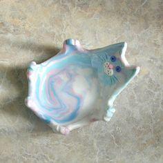 Ceramic Cat Dish by catfishcorner on Etsy, $10.00