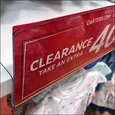 Clearance Shelf-Overlay Shelf-Talker – Fixtures Close Up Carters Store, Wire Shelving, Shelves, Shelf Talkers, Retail Merchandising, Store Fixtures, Overlays, Shelving, Retail