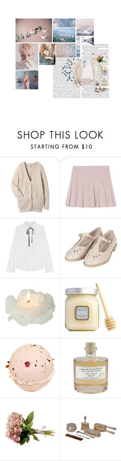 """""""you are my lucky star; my sighs have finally ended"""" by faintingblue ❤ liked on Polyvore featuring Acne Studios, Topshop, Biedermann & Sons, Laura Mercier, Wildfox, Library of Flowers and Old Navy"""