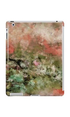 """Abstract art coral green"" iPad Cases & Skins by floraaplus 
