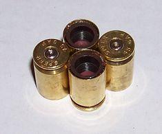 Bullet Valve Stem Caps 4 Brass .45 GAP Recycled by BullseyeBullets, $8.00 only in silver instead
