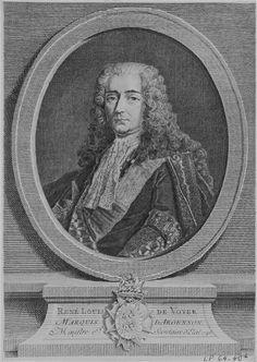 René-Louis de Voyer de Paulmy, 2e. Marquis d'Argenson (1694 - 1757)