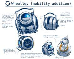 wheatley on wheels<<<Wheelies! Portal Memes, Character Bio, Character Design, Portal Wheatley, Valve Games, Portal Art, Aperture Science, You Monster, Best Games