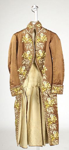 Coat  Date: 1780–89 Culture: French Medium: silk