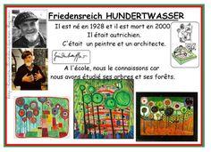 Une classe de moyenne section a travaillé sur les arbres de Hundertwasser.
