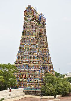 Meenakshi Amman Temple go to the link and see some of the inside halls. Amazing