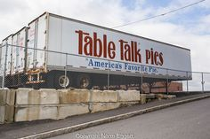 Table Talk Pies trailers parked on Green Street in Worcester, MA Green Street, Boston Strong, Local History, Worcester, Peterbilt, Classic Trucks, Old Trucks, Massachusetts, New England