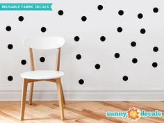 Our two inch polka dot fabric wall decals are available in 21 color options and give your room an instant makeover. Easy decorating, high quality, amazing value. Shop now!