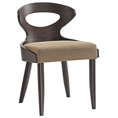 Classic steps forward lead you on a journey through style in the Transit Vintage modern wood dining chair. Made of solid walnut stained rubberwood, and a linen upholstered dense foam cushion, sit back as you bask in taking circuitous steps forward.