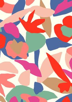 Colorful abstract pattern by Minakani for Natalys #art #pattern #surfacepattern