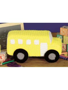 School Bus Toy free crochet pattern