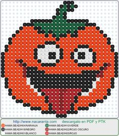 pumpkin EN HAMA BEADS