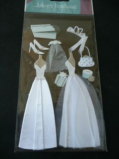 jolee's wedding stickers | NEW Scrapbooking Jolee's 3d Stickers - WEDDING GOWN, Shoes, dresses ...