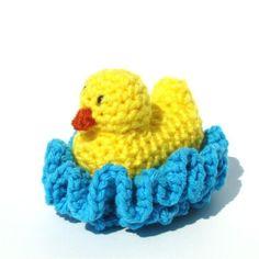 Duck Washcloth Scrubbie - Crochet Pattern by nurse peggy