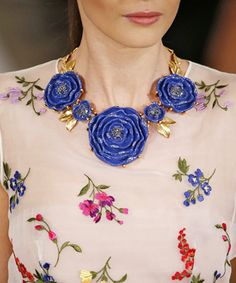 Standout Accessories From Spring 2015 New York, London, Milan, and Paris Fashion Weeks - Oscar de la Renta from #InStyle