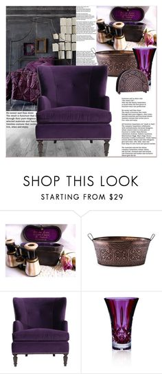 """""""PURPLE Armchair"""" by dragananovcic ❤ liked on Polyvore featuring interior, interiors, interior design, home, home decor, interior decorating, Old Dutch, Waterford, bedroom and vintage"""
