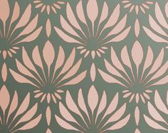 "STENCIL for Walls - Art DECO Pattern ""Fan Flowers"" - Large Allover Wall Stencil - Reusable, Easy DIY Home Decor. $39.95, via Etsy."