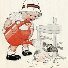 Charles Twelvetrees Vintage Image ~ Make Puppies Grow