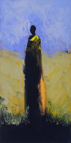 Kathy Jones Standing Tall III oil on canvas 20x10