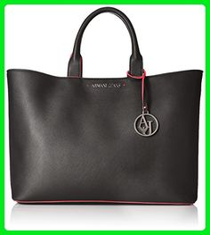 4731aa49b4492 Armani Jeans Eco Saffiano East West Tote with Pouch and Contrast Trim