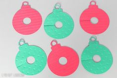 DIY Christmas Ornament Wine Charms - so fun for a party!