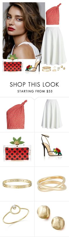 """Untitled #89"" by rafieldshow ❤ liked on Polyvore featuring Rosie Assoulin, Chicwish, Charlotte Olympia, Cartier, Maison Margiela, ZoÃ« Chicco and Marco Bicego"