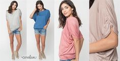 Check out this deal at Jane! Get these Ruched Sleeve Dolman Tee for only $13.99!Normally $28.99! Available in sizes small-XL! If you want it, shop these deals now! Pair them with jeans or shorts for a great look!