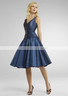 One Style of midnight blue bridesmaid dress