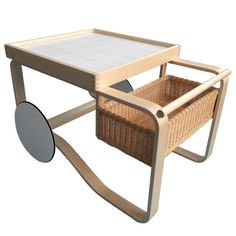 Tea Trolley 900 by Alvar Aalto for Artek | From a unique collection of antique and modern coffee and cocktail tables at https://www.1stdibs.com/furniture/tables/coffee-tables-cocktail-tables/