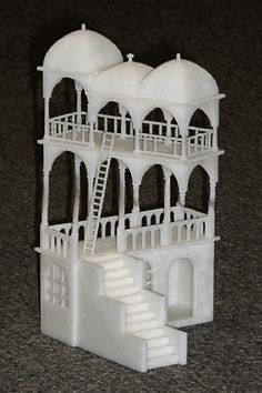 Escher's Belvedere drawing, 3d printed (S)