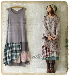 Find More Dresses Information about 2015 New Women Cotton Linen Plaid Patchwork Tank Bottoming Dress Spring Irregular Japanese Mori Girl Embroidery Laciness Dress,High Quality Dresses from JOHN  Fashion  Co.,Ltd on Aliexpress.com