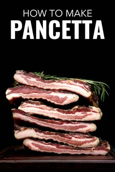 How to Make Pancetta at Home. This is an easy recipe for how to make pancetta with a quick video from a chef. Beef Steak Recipes, Smoked Meat Recipes, Smoked Bacon, Sausage Recipes, Vegetarian Cooking, Vegetarian Recipes, Italian Cooking, Easy Cooking, Popeyes Spicy Chicken Recipe
