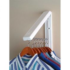 Arrowhanger White Instahanger - Folding Clothes Hanger $19.99 a great solution for when you have no closet in the guest room #houseguests #fallessentials