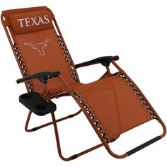 Outdoor College Covers Texas Longhorns Zero Gravity Chair, Multicolor