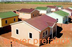 Prefabrik evler iki katlı ve tek katlı olarak yapılabilir.