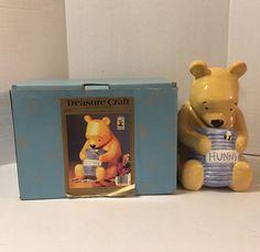 Treasure Craft Disney Winnie the Pooh Hunny Cookie Jar 320-080 with box #TreasureCraft