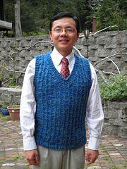 Ravelry: Super Chunky Waving Rib Vest pattern by Minh Han
