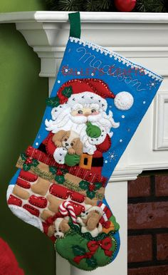 It's true that MerryStockings carries the full line of Bucilla felt Christmas stocking kits. We also have exclusive retired & discontinued Bucilla kits that you'll find no where else. With the largest inventory of kits anywhere, we know you'll find a kit Felt Stocking Kit, Christmas Stocking Kits, Felt Christmas Stockings, Christmas Holidays, Christmas Decorations, Holiday Decor, Christmas Morning, 242, Felt Applique