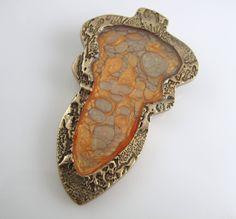 Goldie bronze with pebeo paints