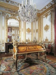Photographic Print: France, Palace of Versailles, Louis XV's Study in Small Apartments :