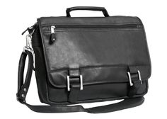 Lightweight and manageable is what you get with this expandable briefcase. 100% full grain, buffed cowhide will stand the test of time and keep you organized with the large main compartment that has p