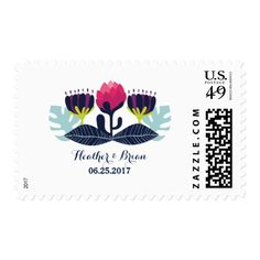 Funky Floral Wedding Postage by trendythings on Zazzle  @zazzle #zazzle #customizable #personalize #wedding #invitation #marriage #married #wed #bride #groom #bridal #shower #fun #planning #engage #engagement #party #event #couple #women #family #friends #invite #chic #modern #style #contemporary #buy #shop #sale #shopping #blog #blogging #look